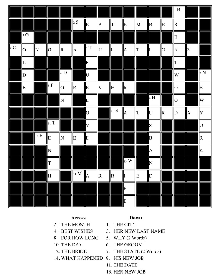 Personalized Crossword puzzle .. awesome homemade card