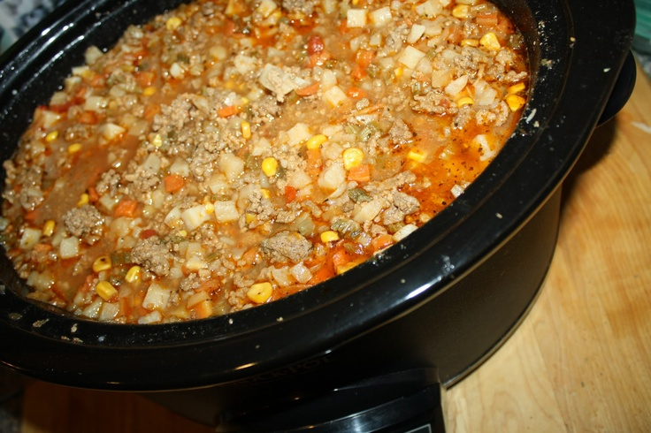 Beefy Crock Pot Stew/Soup made with Food Storage | Beef ...