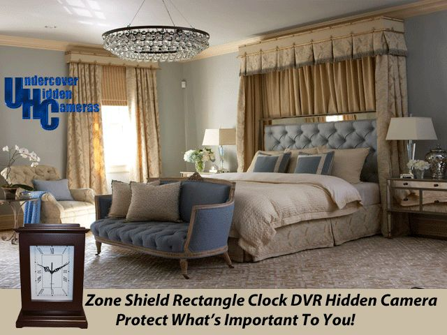 This Beautiful Room Can Be Protected With The Zone Shield Rectangle Clock  DVR Color Hidden Camera