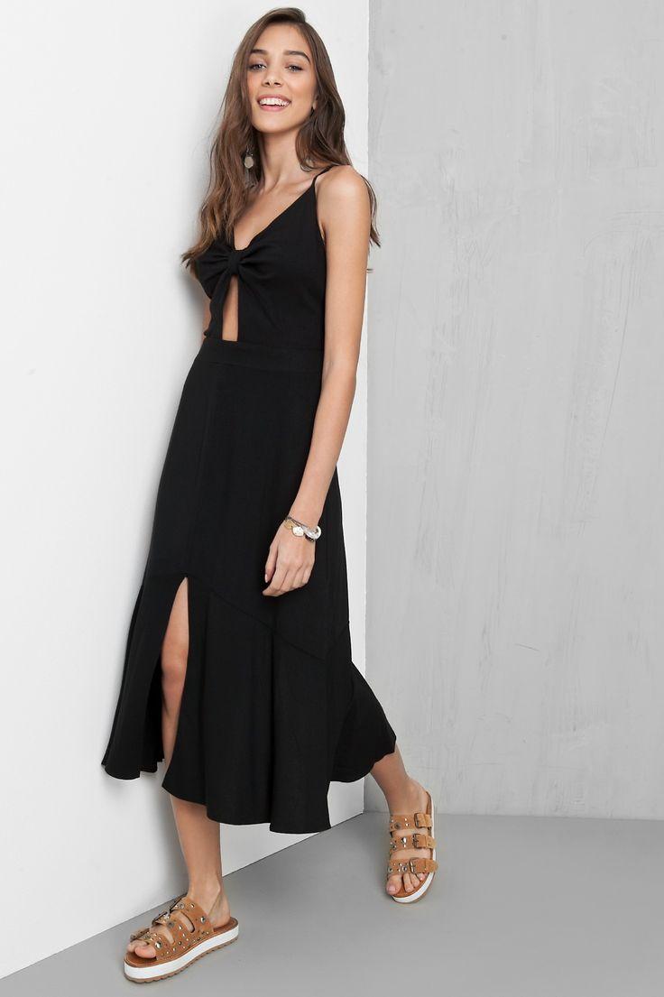 vestido midi saia recortada - Vestidos | Dress to