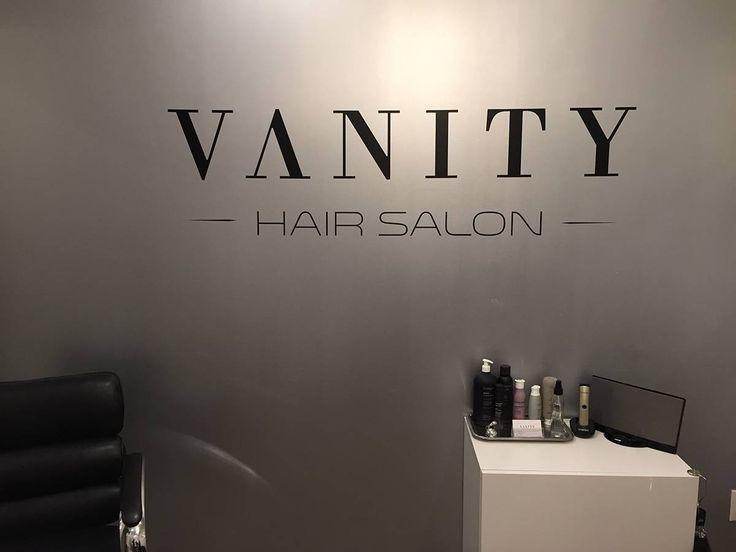 Vanity Hair Salon Logo Vinyl