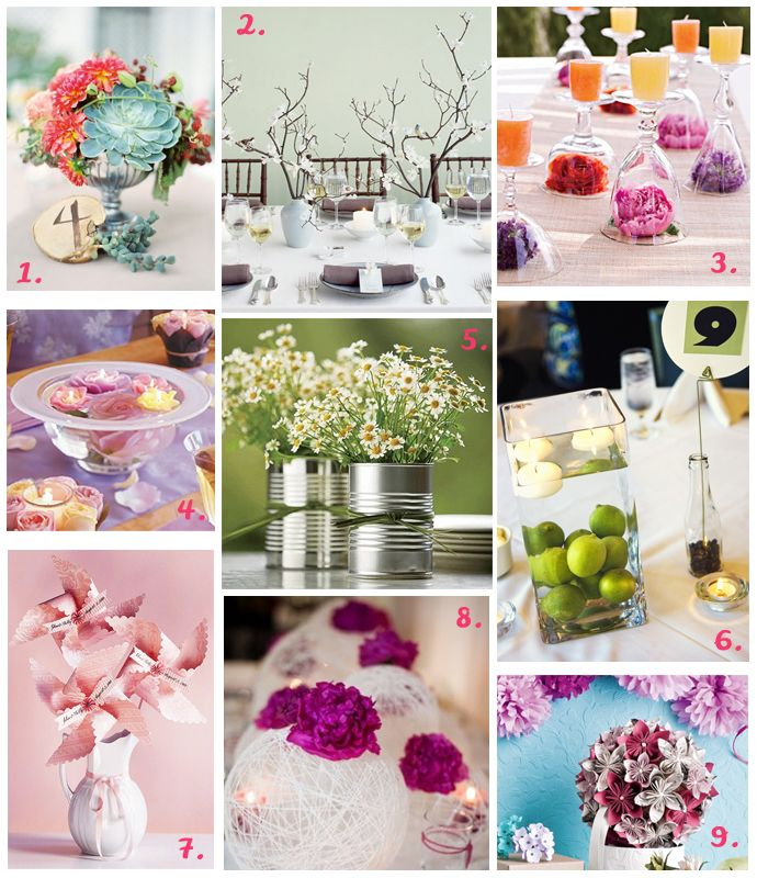 9 Ideas Dedicated To Those Brides On A Budget Who Are Looking For Super Pretty Spring Wedding DecorationsWedding Table CenterpiecesFloral