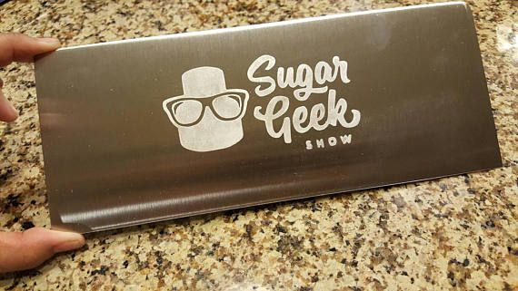 Personalized Metal Etched Stainless Steel Bench Scraper