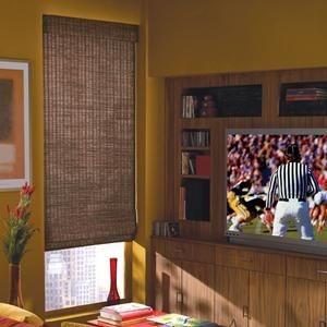 shoreline cordless woven wood blinds are perfect for living rooms - Bamboo Window Shades