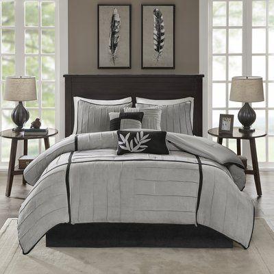 Red Barrel Studio Gloria 7 Piece Comforter Set Size: California King, Color: Grey