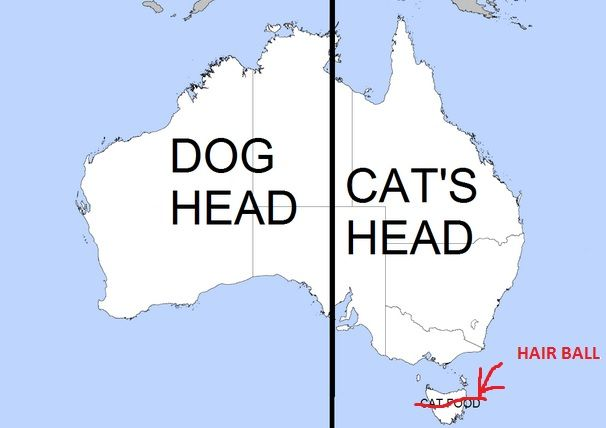 Youll never look at a map of Australia the same way again. | #lol #funny #humor
