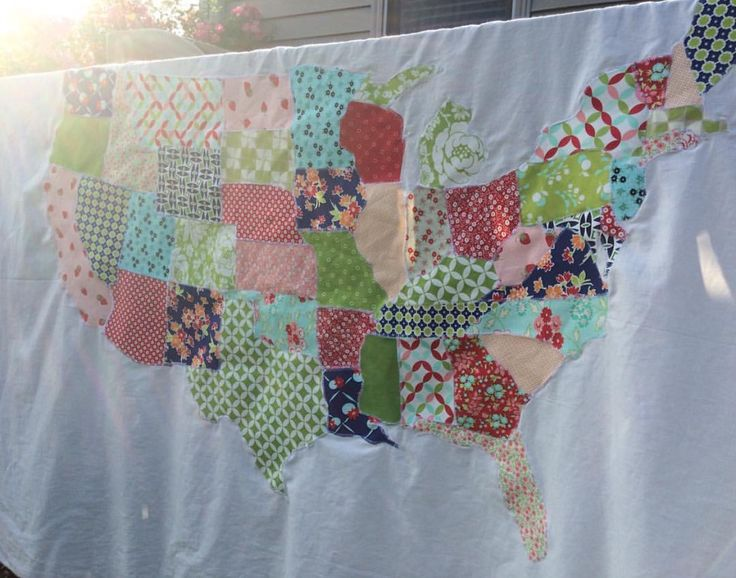 Best Quilting Images On Pinterest Quilt Blocks Block Party - Us map quilt tutorial