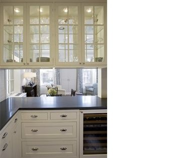 Gl Kitchen Cabinets See Through White Dark Countertop Lights Inside