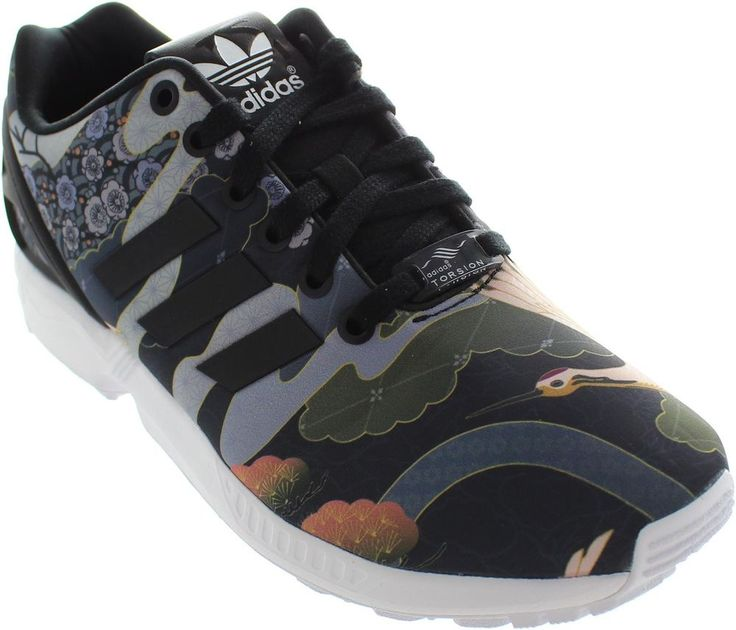 Adidas Torsion Zx Flux Women's Floral Bird Print Lace Up Running Trainers New #adidas #Trainers