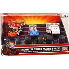 Disney Cars Cars Toon Monster Truck Mater Diecast Car Set [Set #1],