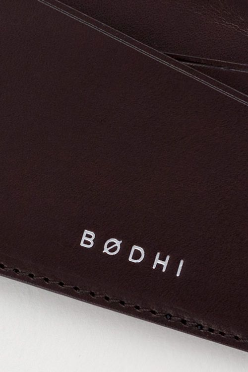 Leather Card Holder | Mahogany Red | Made by Bodhi