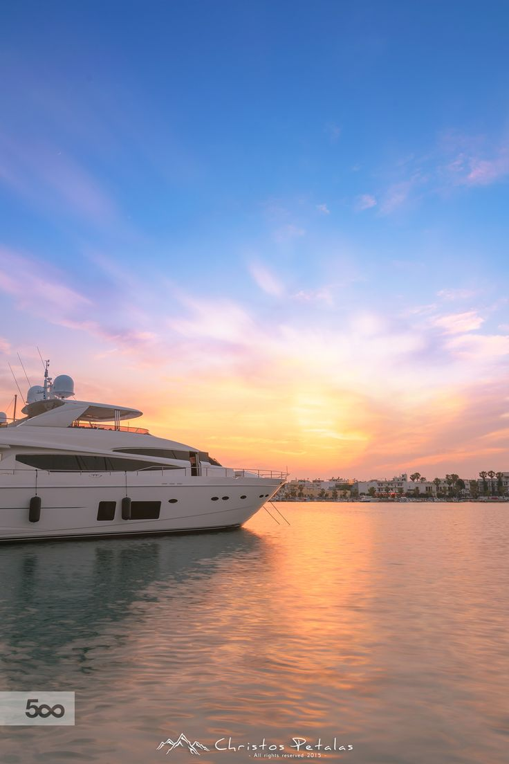 Sunset on harbor by Christos Petalas on 500px