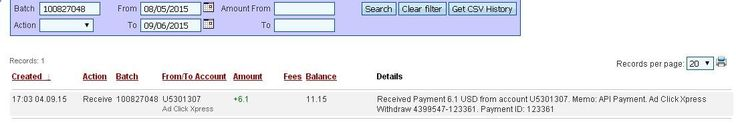 I am getting paid daily at ACX and here is proof of my latest withdrawal. This is not a scam and I love making money online with Ad Click Xpress. I WORK FROM HOME less than 10 minutes and I manage to cover my LOW SALARY INCOME. If you are a PASSIVE INCOME SEEKER, then AdClickXpress (Ad Click Xpress) is the best ONLINE OPPORTUNITY for you. No Scam Here paying daily Proof www.adclickxpress...