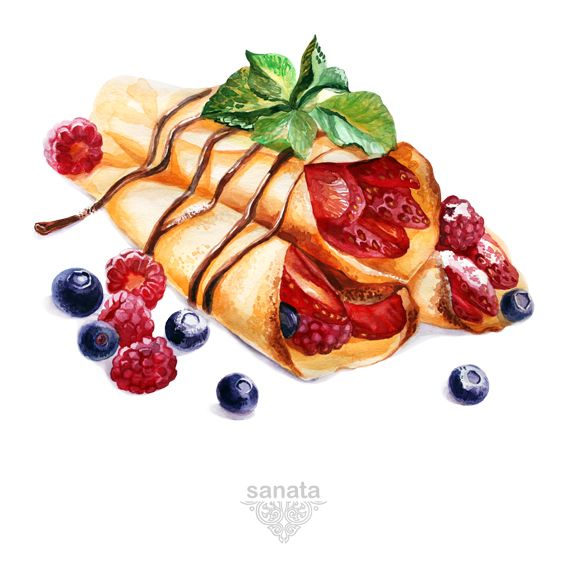 Pancakes & Fruits on Behance