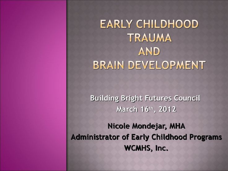 early brain development and learning Optimizing early brain and motor development through movement: by carl gabbard, edd, and luis rodrigues: it appears that research is now supporting what we in early childhood education have been saying for years that is, positive early experiences forge the foundations for lifelong learning and behavior and, to optimize the development of.