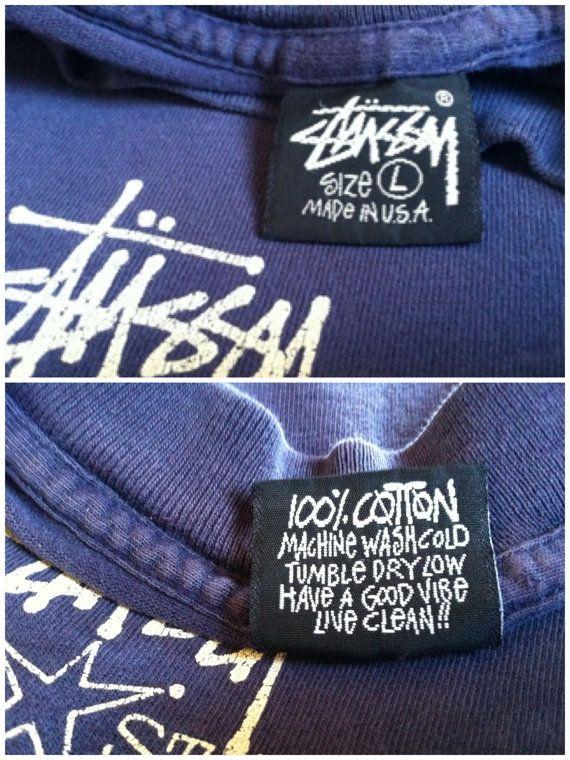 STUSSY T-shirt 90's Vintage/ Original USA Made All Stars ...