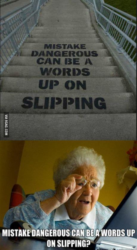 Don't feel bad. I read it that way too, granny.