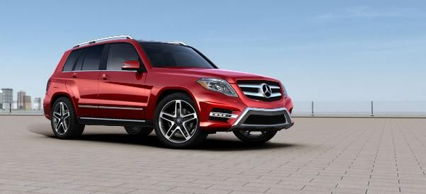 2014 Mercedes-Benz GLK350 SUV, $56,501 build price. Super loaded! Mars Red color, black leather package, sports package, lighting package, Premium 1 entertainment package, 4MATIC package, lane tracking package, chrome accented roof, door, and sill protector, illuminated door sills, harman/kardon LOGIC7® sound system, and on and on. Find here: http://www.mbusa.com/mercedes/vehicles/class/class-GLK/bodystyle-SUV