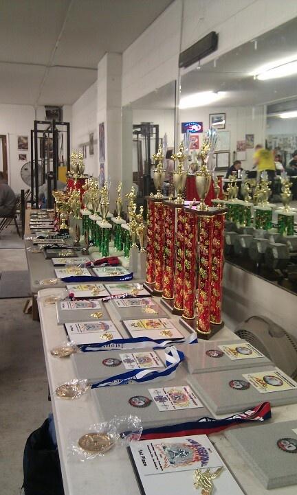 Awards table at my first NASA powerlifting meet