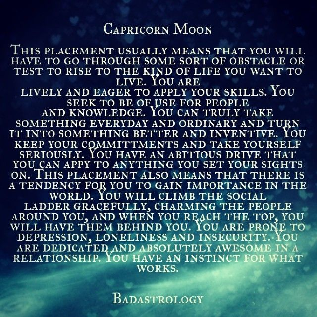 capricorn moon.   #Zodiac #Astrology For related posts, please check out my FB page:  https://www.facebook.com/TheZodiacZone