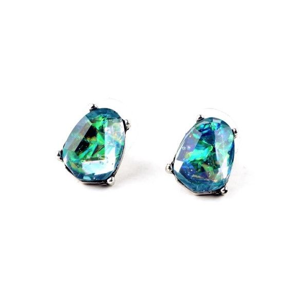 Blue Green Stud Earrings