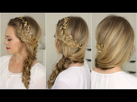 Wow! Wow! Wow ! I love this French Braid and Side Fishtail Braid tutorial. Easy, yet so elegant !