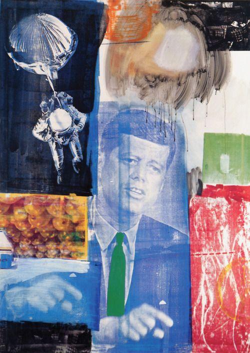 Robert Rauschenberg, Retroactive II, 1963. Oil and silkscreen ink on canvas.