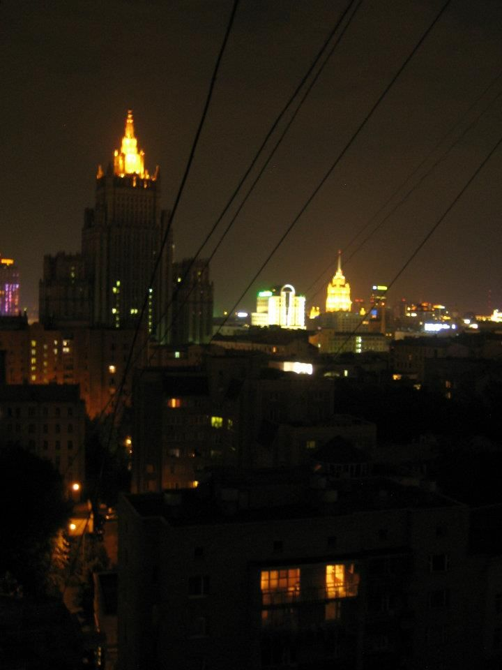 Moscow by night from my kitchen window