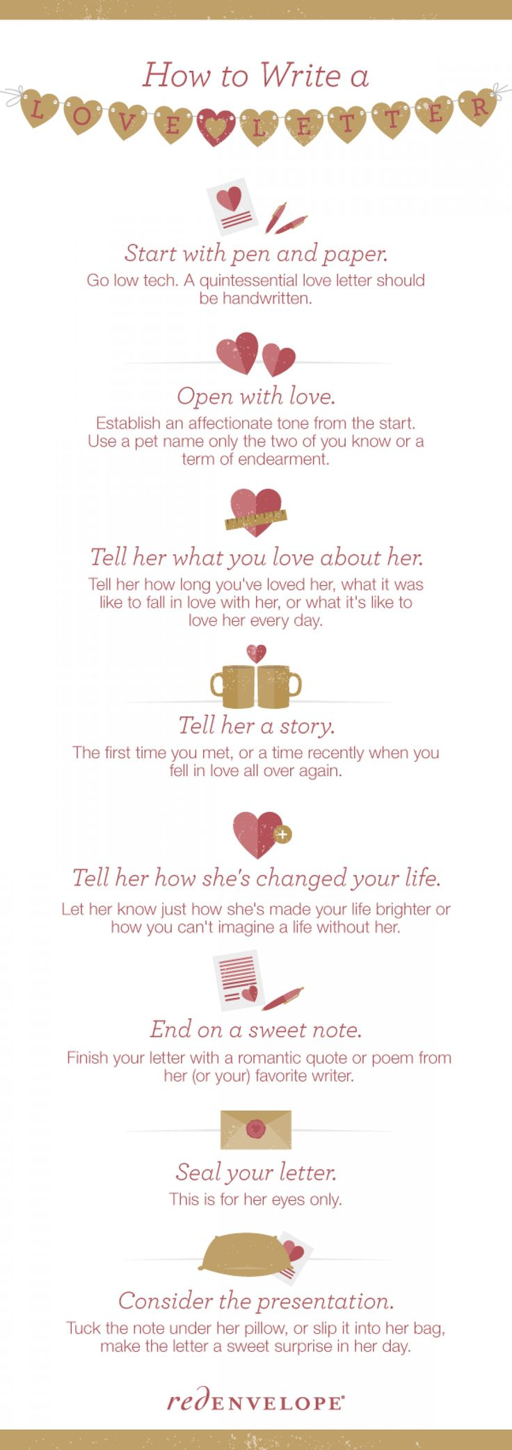 How To Write A Love Letter #Infographic #LoveLetter #howTo