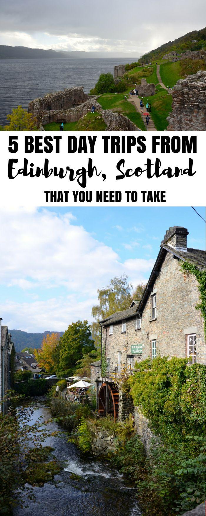 Best tours in Edinburgh, best day trips from Edinburgh, Scotland. Edinburgh day trips!