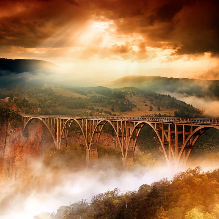 Durmitor National Park   Montenegro: Photos, Nature, Bridge Montenegro, Beautiful Places, Đurđevića Tara, Bridges, Dragan Todorovic, Tara Bridge