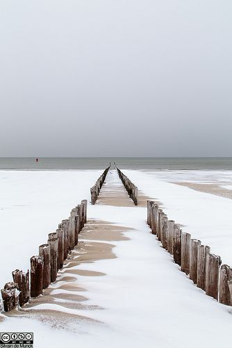 Winter at the beach, Westkapelle, Zeeland, The Netherlands