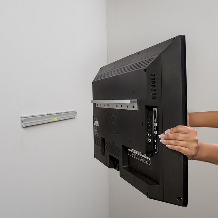 The Hangman No Stud TV Hanger will hang any LED thin screen TV in less time than it takes to unpack it. Consists of two interlocking aircraft-grade aluminum brackets. One bracket attaches to the back