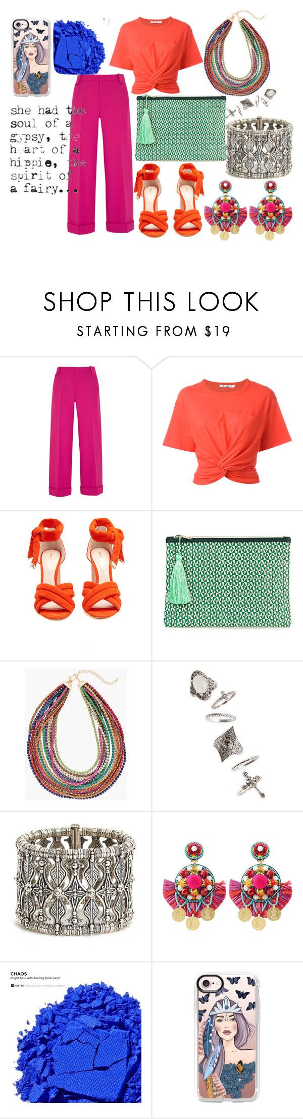 """Modern gypsy"" by hosseini-razie ❤ liked on Polyvore featuring Roland Mouret, T By Alexander Wang, Nicholas Kirkwood, Rae Feather, Chico's, Topshop, Konstantino, Ranjana Khan, Urban Decay and Casetify"