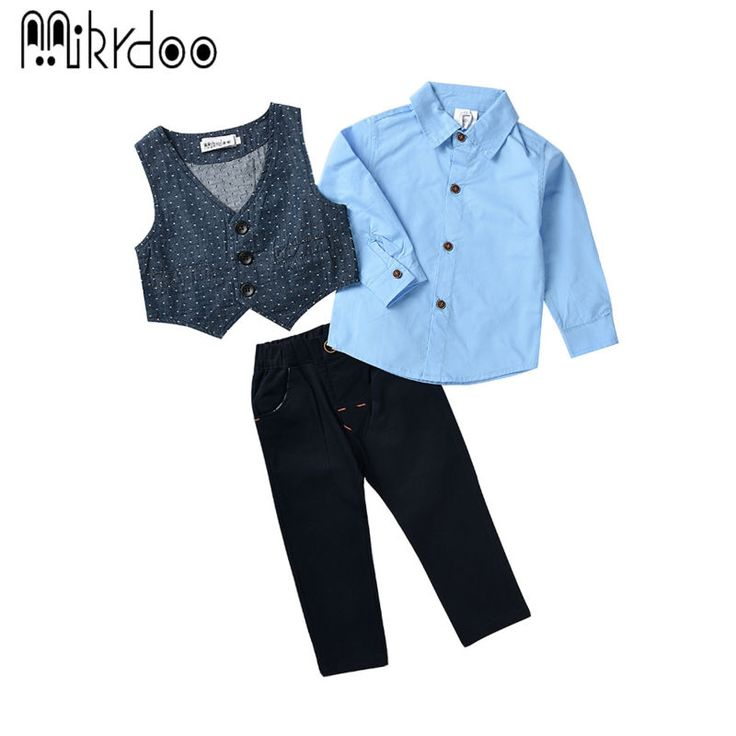 Boys clothes kids gentelman formal vest shirt pants terno texdo children costume wedding suit handsome three pieces set stylish