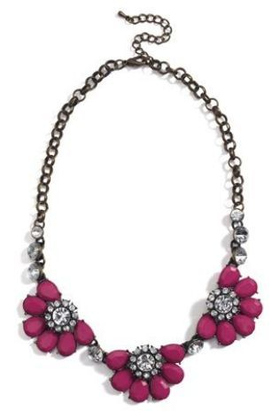 Buy Pink Jewelled Statement Necklace from the Next UK online shop #myawcolour.