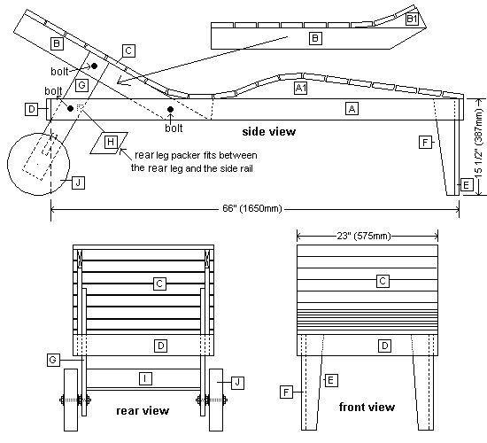 Pdf Wooden Deck Lounger Plans Diy Free Plans Download