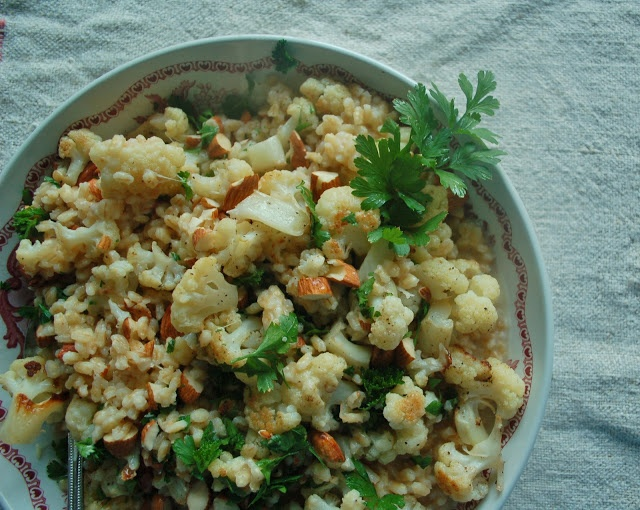 The Spice Garden: Cauliflower and Barley Salad with Toasted Almonds