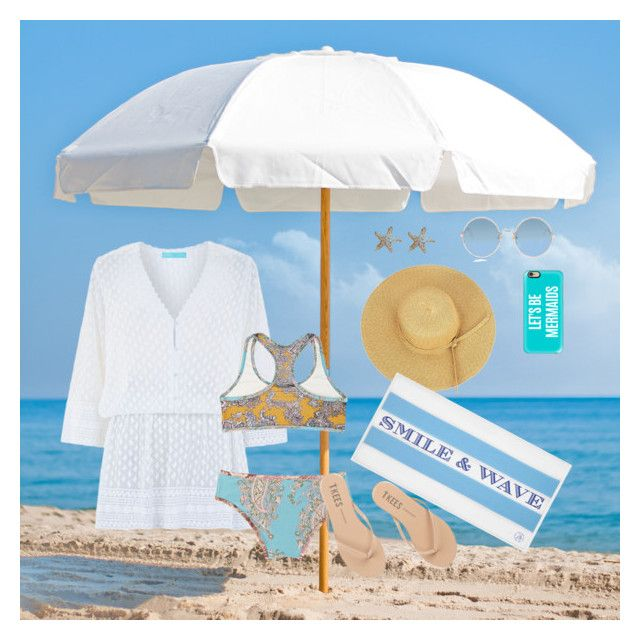Beach time all summer by creece-massoudi on Polyvore featuring polyvore, fashion, style, Melissa Odabash, Zimmermann, Tkees, Annoushka, Sunday Somewhere, Casetify, Frankford, Draper James and clothing