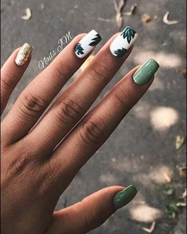 100 Spring Nail Art Ideas 2020 Best Spring Nails 2020 Leave Nail Art Designs Spring Nail Art Spring Nail Trends Solid Color Nails Christmas Nails Acrylic