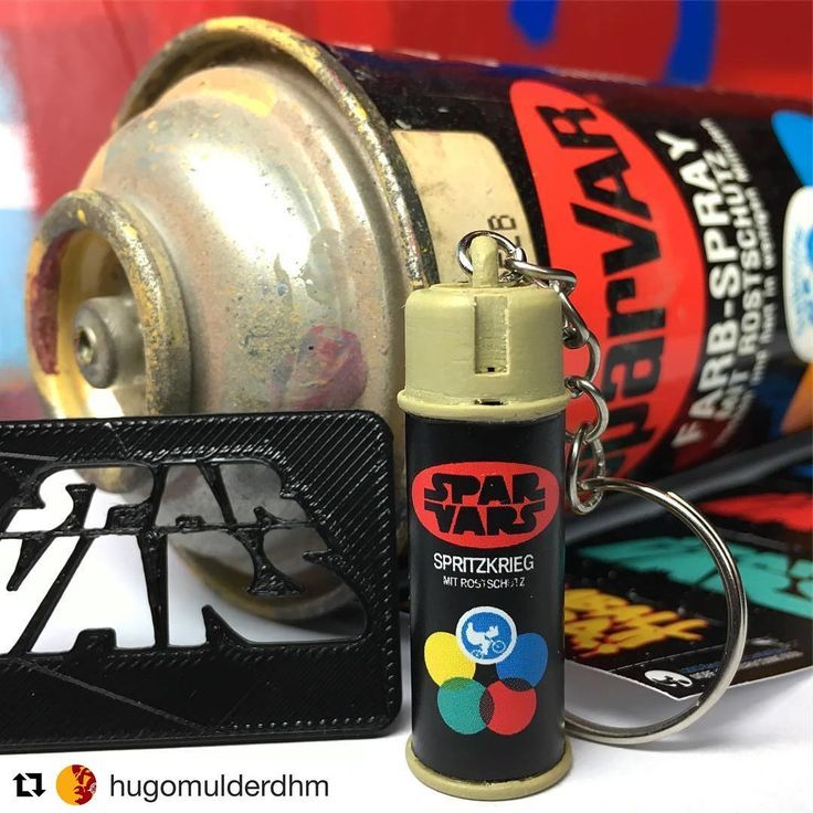 SPARVARS miniature aerosol 80's style key chain by Baschz Leeft. Available on lamballbakra.com. spraycan spray paint spraypaint spray can streetart sparvar star wars starwars krylon spraycanart
