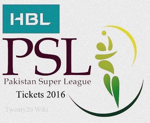 HBL Pakistan Super League 2016 Tickets sale begins - T20 Wiki