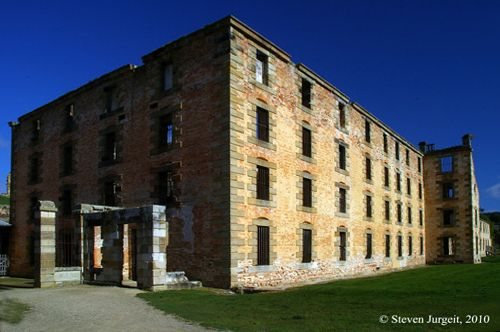 The Port Arthur Penitentiary was the largest building in the colony of Van Diemen's Land.
