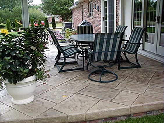 Patio, Slate And To Be On Pinterest · Colored Concrete ...