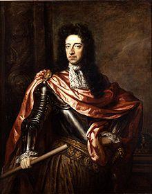 Husband of Mary II - William III & II (Dutch: Willem III; 4 Nov 1650 – 8 Mar 1702) was a sovereign Prince of Orange of the House of Orange-Nassau by birth. From 1672 he governed as Stadtholder William III of Orange (Dutch: Willem III van Oranje) over Holland, Zeeland, Utrecht, Gelderland, and Overijssel of the Dutch Republic. From 1689 he reigned as William III over England & Ireland.   http://en.wikipedia.org/wiki/William_III_of_England
