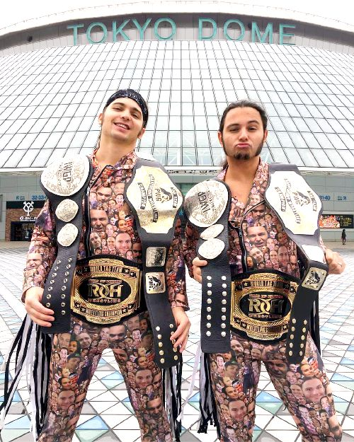 Matt & Nick Jackson, the Young Bucks....IWGP Jr Tag Team, ROH Tag Team, and PWG Tag Team Champions
