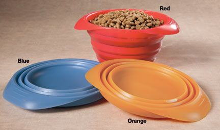Collapsible Dog Bowls - Great for the on the go dog! great travel bowls. http://www.drsfostersmith.com/