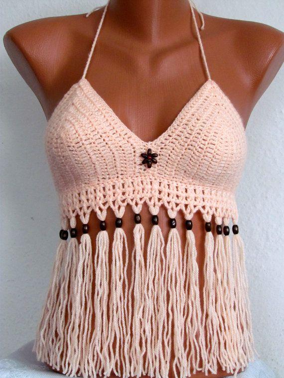 Sexy  Crochet Bra crochet halter tank Crochet door SvetlaBoutique