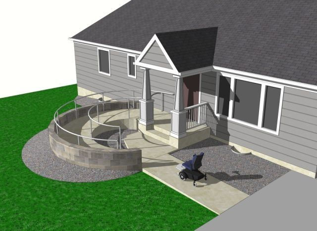 Handicap design telescoping wheelchair ramp ramps on the Wheelchair accessible housing