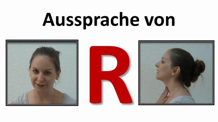 Dieses Video erklärt, wie der Buchstabe R im Deutschen im Vergleich zu CH ausgesprochen wird.